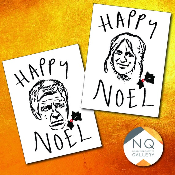Happy Noel - Gallagher, Edmonds or Fielding Christmas greeting cards
