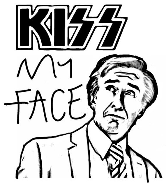 Kiss my Face Alan Partridge birthday greeting cards that can be personalised