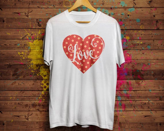 6b23247cc Love Heart unisex cotton tee Bella and Canvas direct to   Etsy
