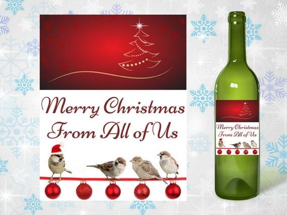 Printable Holiday Wine Label Christmas Gift Host Hostess Etsy