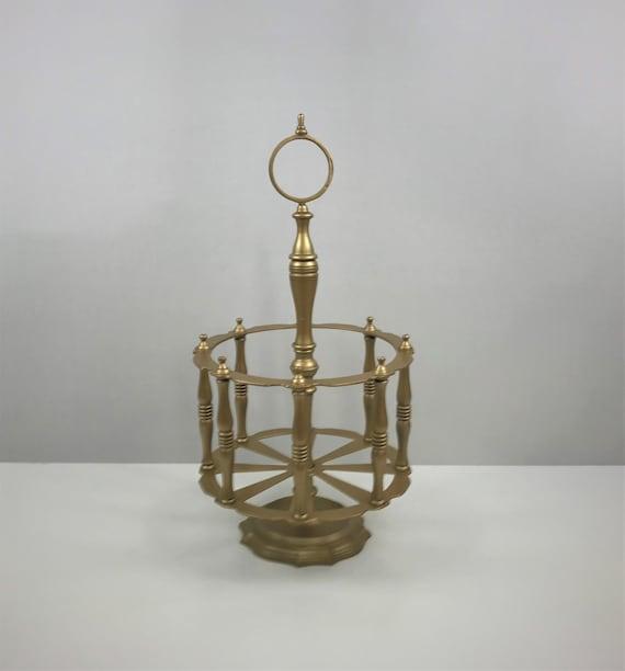 Brass Wood Umbrella Stand Copper Etsy