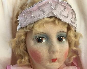 Antique 1920's Boudoir Doll. Gre-Poir French Dollmakers