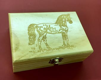 Jewelry Box with Morgan horse by artist Paul Brown