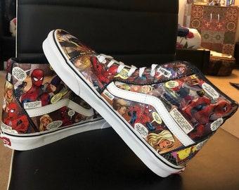 Marvel vans | Etsy