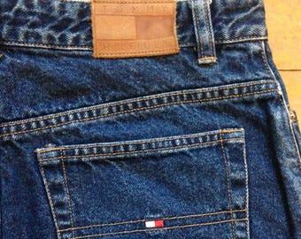 90s vintage denim jean skirt Tommy Hilfiger ankle length