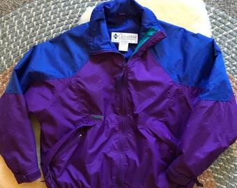 0181069ab 90s Vintage Womens XL Purple Columbia Jacket