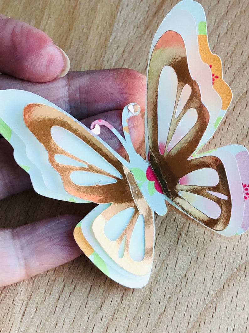 6 Table Decorations 3D Butterfly Spring Party