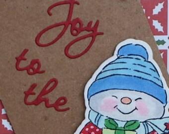 Joy to the World Snowman card