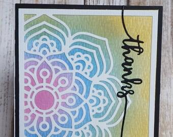 Mandala thanks card