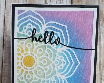 Mandala hello card