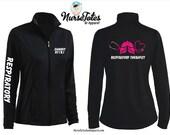 Respiratory Nurse Jacket - Fitness Jacket - Personalized