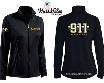 Fleece Jacket Graduation Gift 911 Operator 911 Dispatcher Gift 911 Operator Gift Embroidery Jacket 911 Dispatcher Jacket