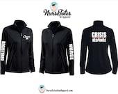 CRISIS RESPONSE Nurse Jacket - ER Nurse Jacket - Emergency Nurse Fitness Apparel - Personalized Medical Apparel