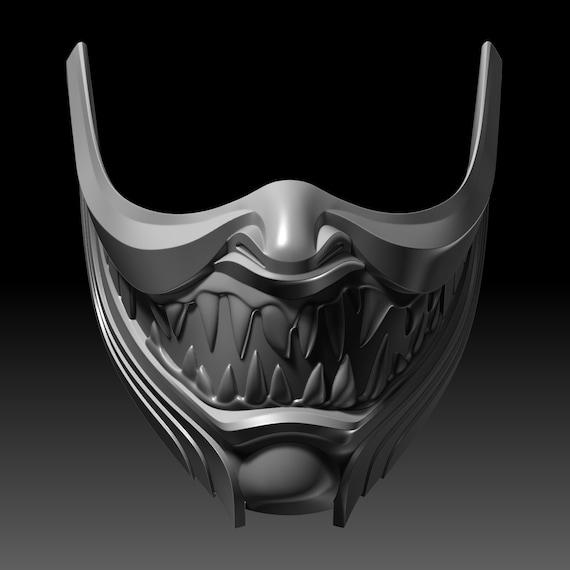 mortal kombat 11 scorpion mask template