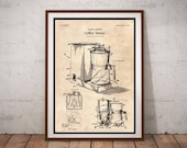 Coffee Maker Patent Poster