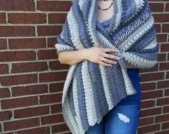 Chunky angled super scarf wrap shawl blanket wrap