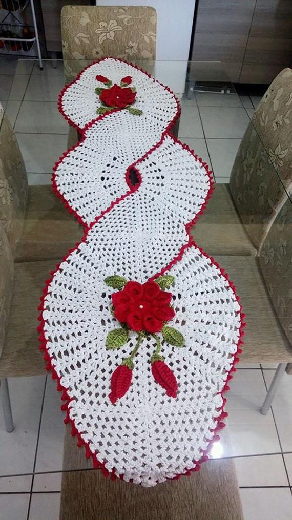 Napperon En Crochet Set De Table Fait Main En Laine Element De
