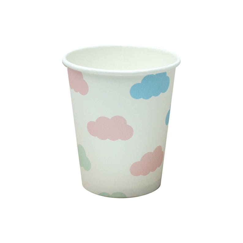 52b0067f8 10 Clouds Paper Cups Clouds Party Cups Clouds Baby Shower Cups