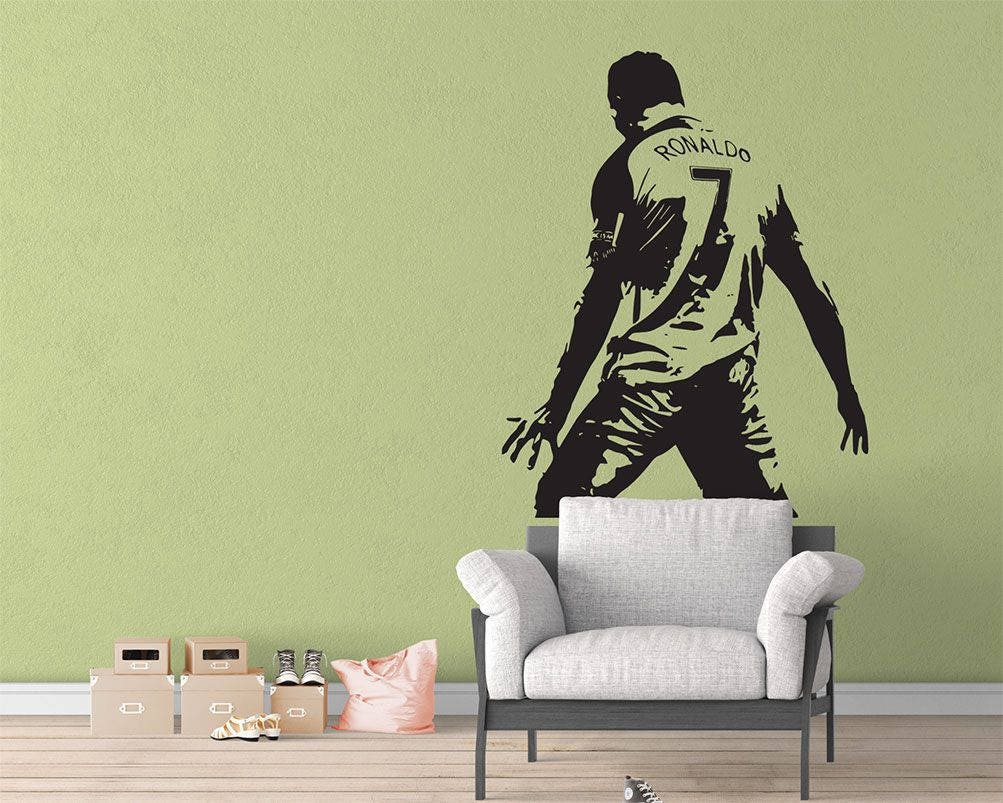 Football Soccer Player Superstar Sticker Vinyl Wall Decal Home | Etsy