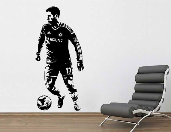 Eden Hazard Soccer Football Player Sticker Vinyl Wall Decal Etsy
