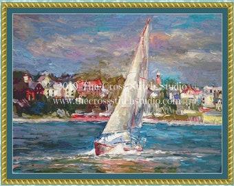 Sailing Cross Stitch Pattern