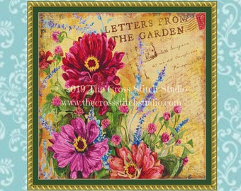 Letters From the Garden Cross Stitch Pattern