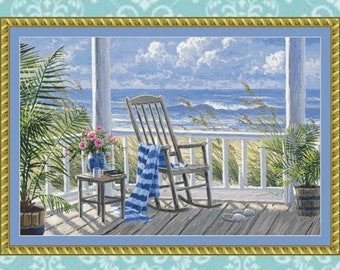 Quiet Time Crop #1 Cross Stitch Pattern