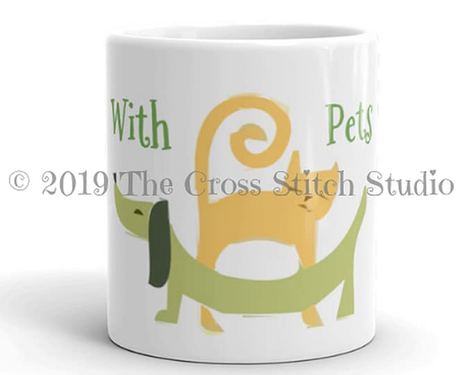 Pets and Cross Stitch Mug