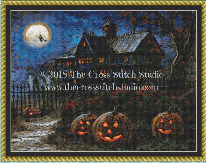 Spooky Halloween Cross Stitch Pattern ~ SMALL