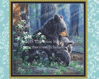 Bears Cross Stitch Pattern ~ SMALL