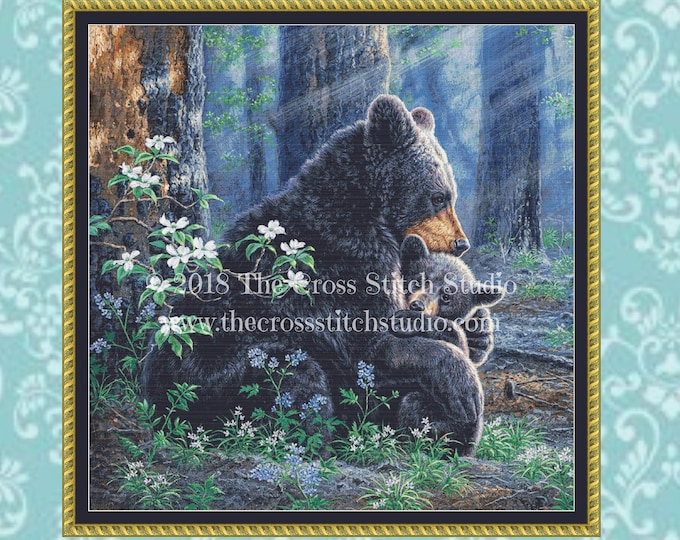 Bears Cross Stitch Pattern ~ SMALL