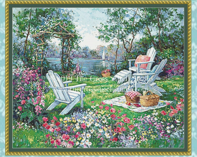 Adirondack Summer Cross Stitch Pattern