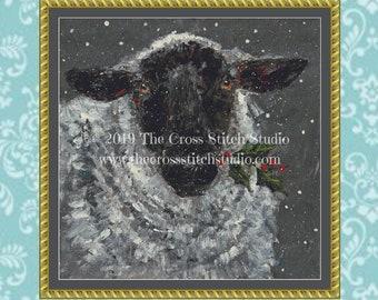 Christmas Sheep Cross Stitch Pattern