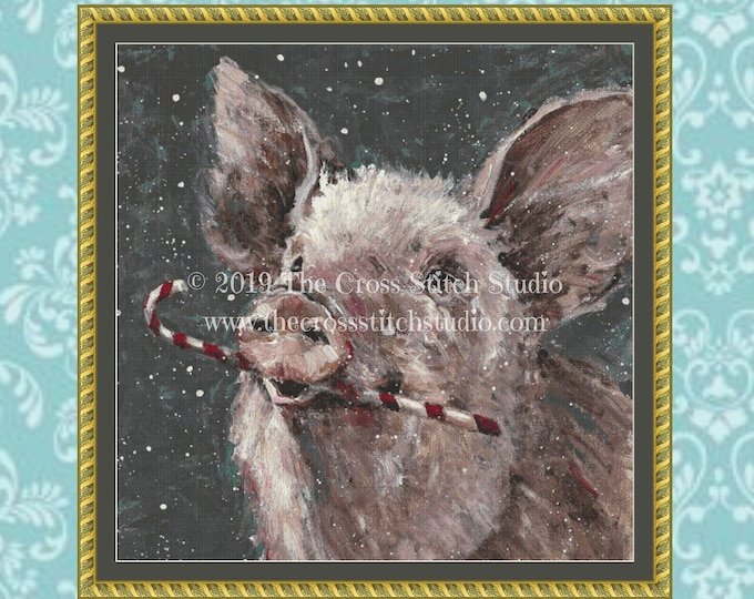 Christmas Pig Cross Stitch Pattern