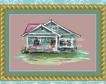 Cottage Cross Stitch Pattern