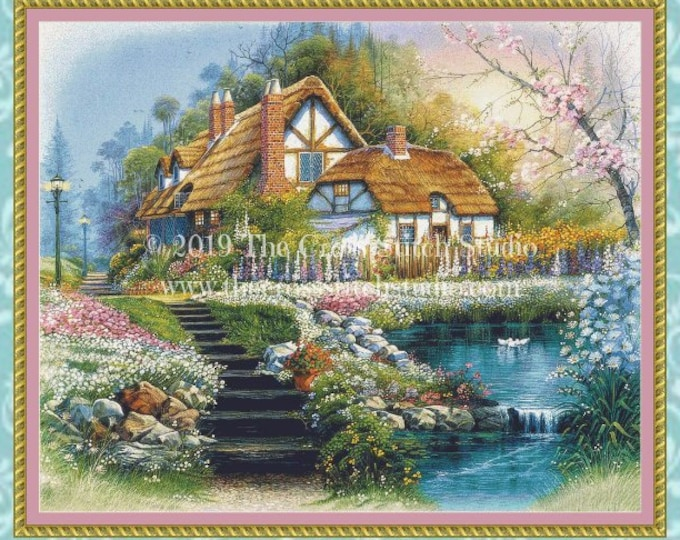 Featured listing image: House Cross Stitch Pattern LARGE