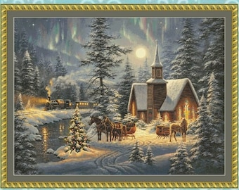Silent Night Cross Stitch Pattern