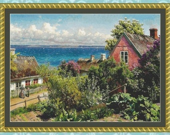 Summer in Aalsgaarde Cross Stitch Pattern