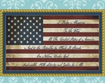 Flag Cross Stitch Pattern #1