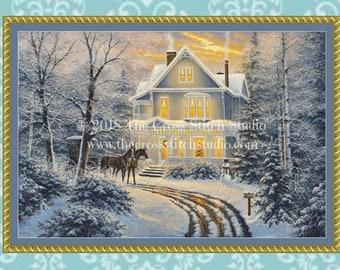 Christmas Cross Stitch Pattern LARGE