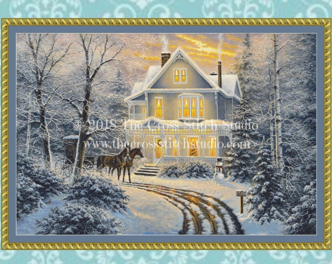 Homecoming Cross Stitch Pattern LARGE