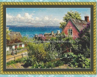 Cottage Cross Stitch Pattern LARGE