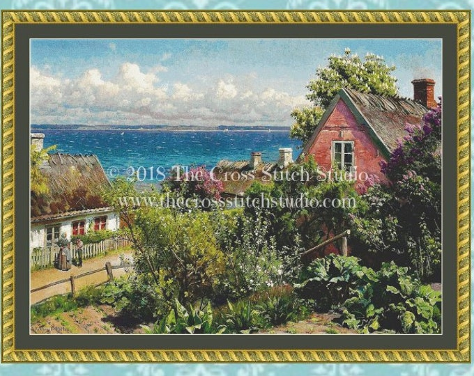 Summer in Aalsgaarde Cross Stitch Pattern LARGE
