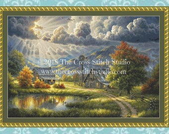 Farm Cross Stitch Pattern LARGE