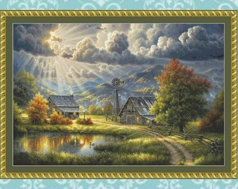 God Shed His Grace Cross Stitch Pattern