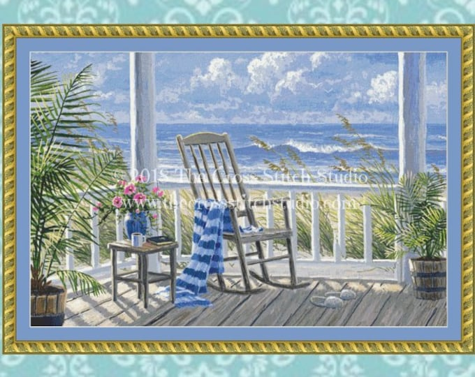 Quiet Time Cross Stitch Pattern MEDIUM