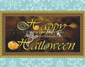 Happy Halloween Cross Stitch Pattern