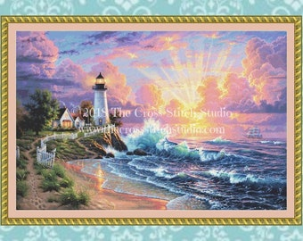 Lighthouse Cross Stitch Pattern LARGE