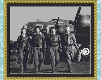 Women's Air Force Service Pilots (WASPs) Cross Stitch Pattern