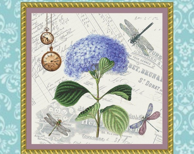 Dragonfly Collage Cross Stitch Pattern